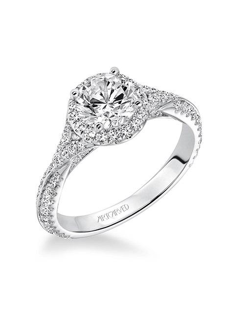 78xl0bIQe4 - Обручальные кольца с бриллиантами круглой огранки (60 фото)