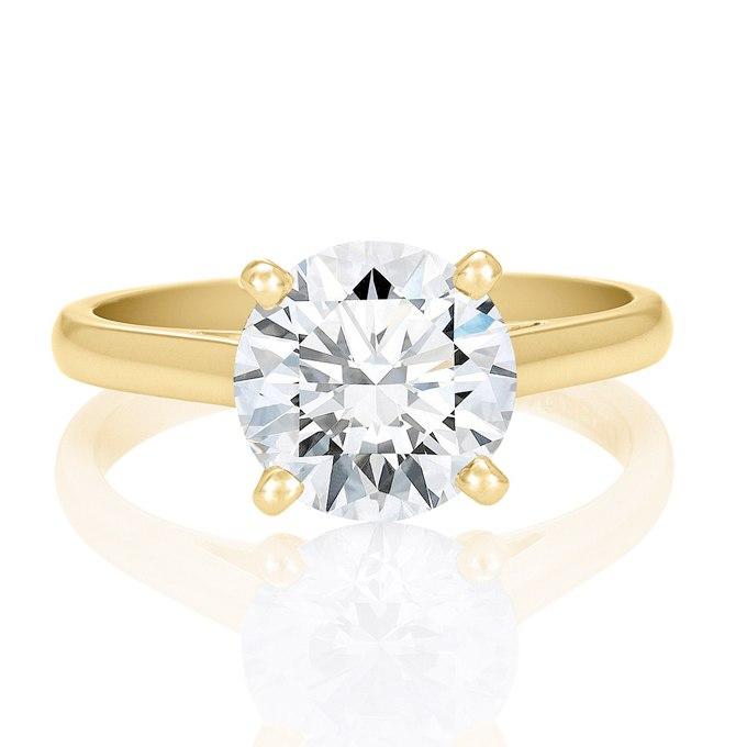 XWmvIxSbXRA - Обручальные кольца с бриллиантами круглой огранки (60 фото)