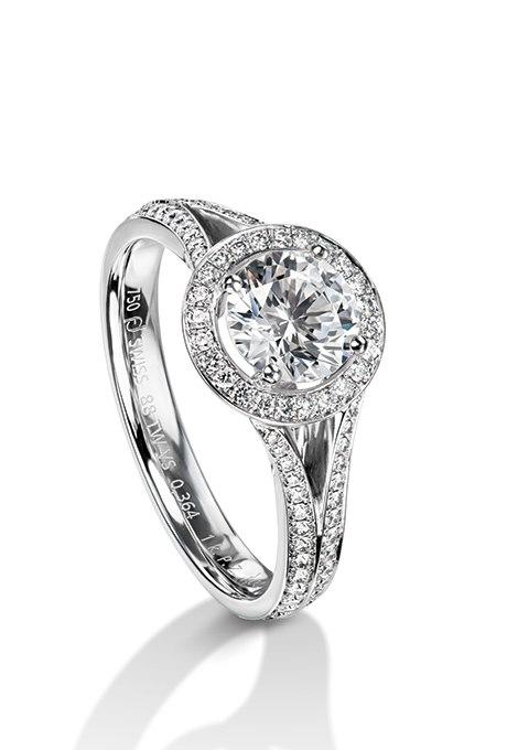 HDFeUGtAio - Обручальные кольца с бриллиантами круглой огранки (60 фото)
