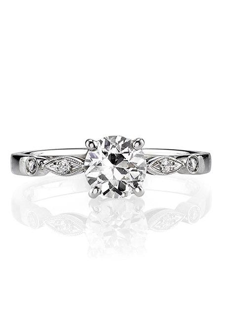 iWyeQcJSNzU - Обручальные кольца с бриллиантами круглой огранки (60 фото)