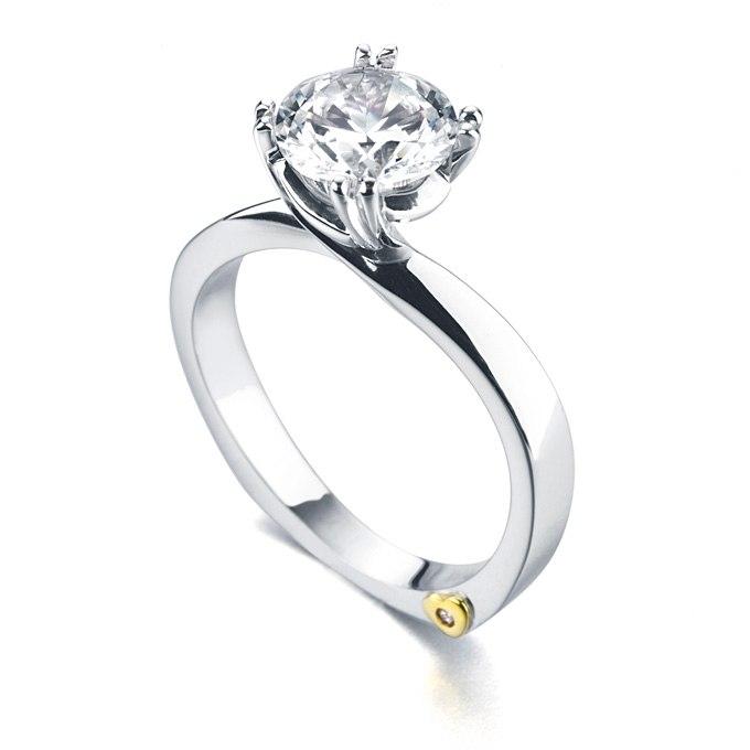 7TYdOt8Pn0k - Обручальные кольца с бриллиантами круглой огранки (60 фото)