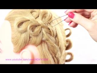 Bow Braid Hairstyle. Плетение косичек бантиками
