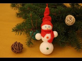 Снеговик своими руками. Новогодняя игрушка