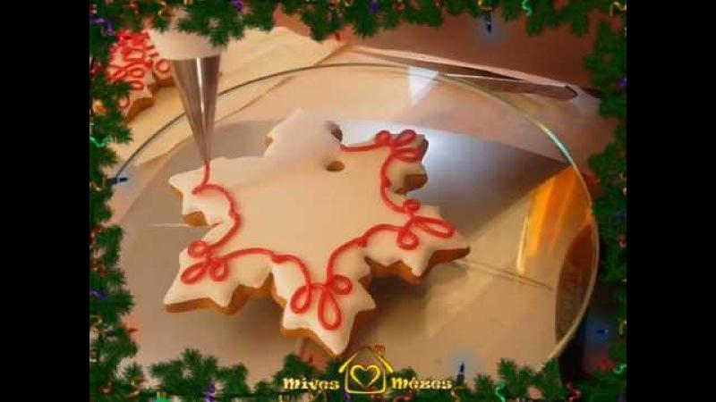 Karácsonyfadíszek mézeskalácsból - How To Decorate Christmas Gingerbread Cookies