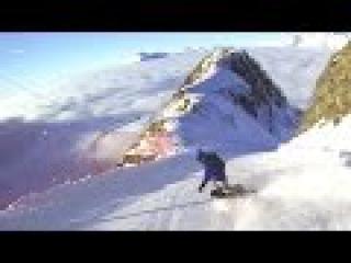 1080p 48fps Спуск по трассе Карусель, Сочи 2015, сноуборд видео, спуск с небес 2 часть))