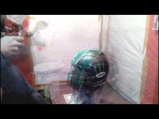 Покраска шлема Arai RX7