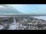 Шлиссельбург с квадрокоптера зима. Дальний полёт.