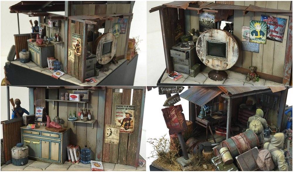 Эпическая диорама на основе Fallout3 и Fallout4