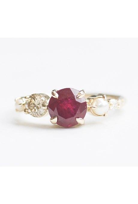 l4m PW6eNXY - Обручальные рубиновые кольца (25 фото)