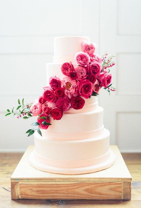 TdzOj3P2Kw - 44 Свадебных торта, украшенных цветами