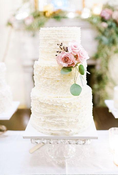 TsFrKCYQZ44 - 44 Свадебных торта, украшенных цветами