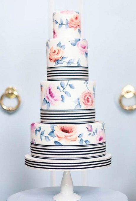 TNDDmXDi qY - 44 Свадебных торта, украшенных цветами