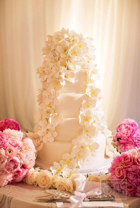 avxVXDlN2aY - 44 Свадебных торта, украшенных цветами
