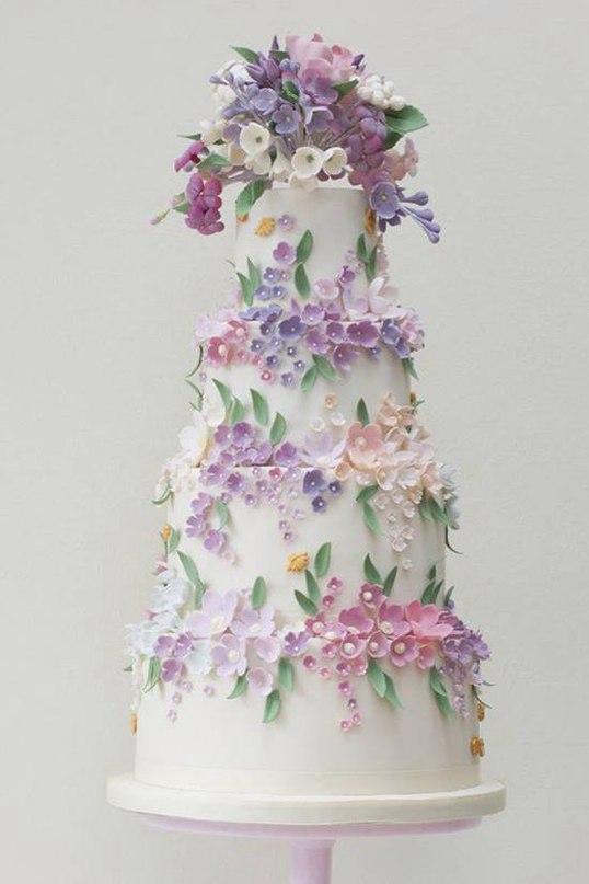 MDKcFUtnOys - 28 Гламурных свадебных тортов