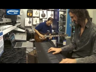 Marco Parisi shows a ROLI Seaboard Grand can almost perfectly mimic a guitar!
