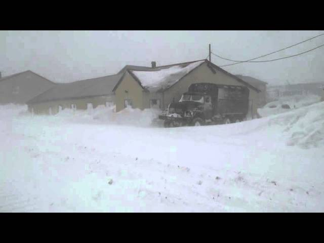 Северо-Курильск, зима 2016. Ул.Сахалинская.