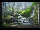 Landscape Painting Misty Forest Creek Paint with Kevin Hill