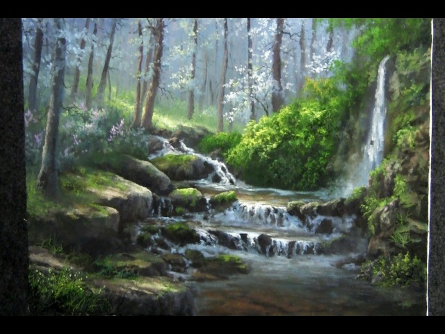 Landscape Painting | Misty Forest Creek | Paint with Kevin Hill