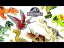 Jurassic World Raptors T rex Indominus rex Set 5 LEGO KnockOff Big Figures YE Blocks