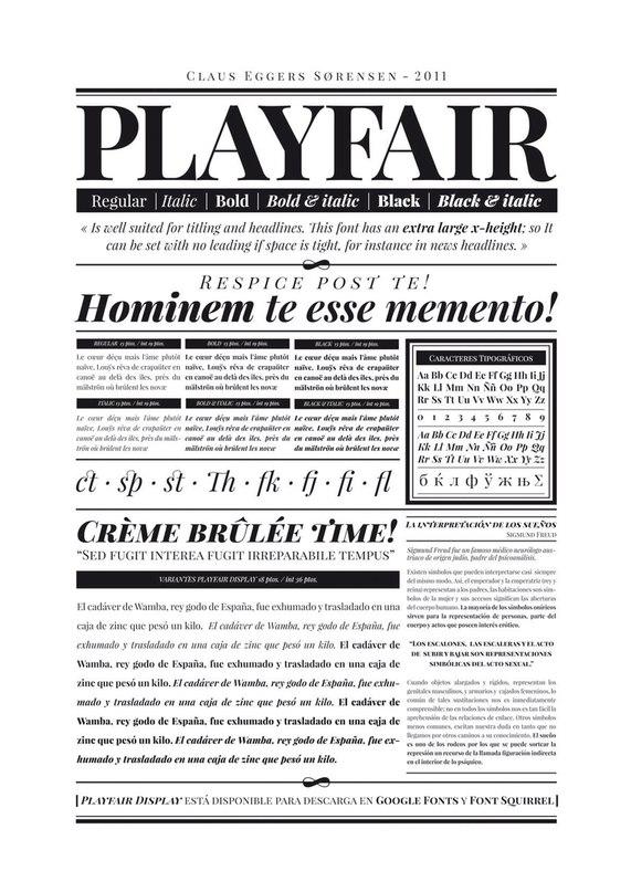playfair-display шрифт скачать бесплатно
