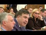 Аваков кидает стакан в Саакашвили