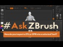 AskZBrush - How can you import a ZTL or ZPR into a selected Tool