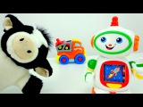 Видео для детей: Собираем АВТОВОЗ! Коровка, Робот и Машинки. Развивающие игры.
