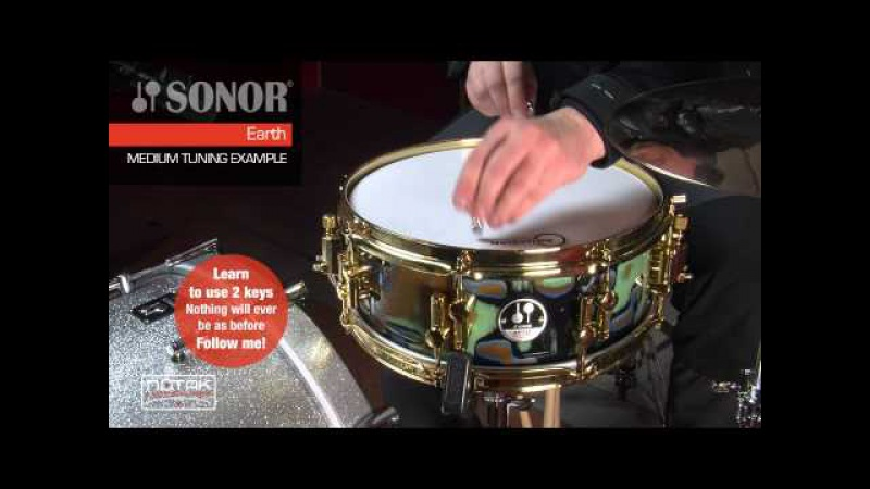Tuning examples del rullante Sonor AS 12 1305 EA SDW - Earth Finish