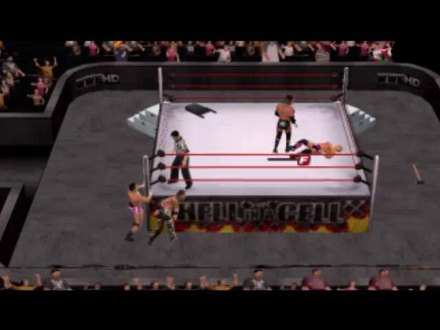 Wwe smackdown vs raw 2011 Triple H and Shawn Miclies vs David Hart Smith and Tyson Kidd