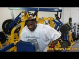 IFBB Pro Bodybuilder Dexter Jackson Arm Workout At NPC Photo Gym