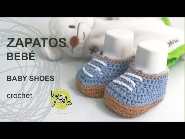 Tutorial Zapatos Bebé Crochet o Ganchillo