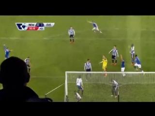 Клеверли гол - Ньюкасл Юнайтед - Эвертон 18 тур АПЛ 26 12 2015