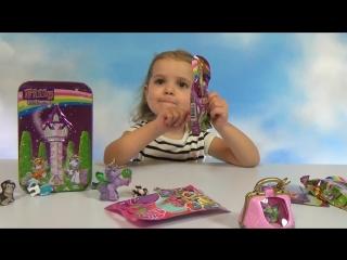 Филли единорог Май Литл Пони сюрпризов с игрушками May Little Pony Filly Unicorn surprises with toys