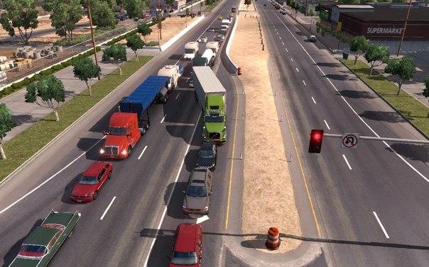 American Truck Simulator мод скрипт Поведение трафика