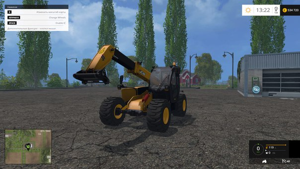 Farming Simulator 2015 мод погрузчик JCB 531-70