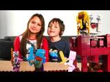 ЛЕГО Майнкрафт. Видеоблогеры Адриан и Милада собирают Майнкрафт АД. Minecraft Lego Nether