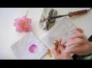 Цветы из ткани МК Как пользовать булькой из основного набора