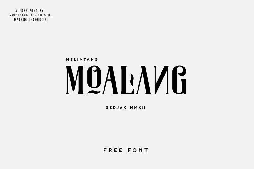 Moalang Swistblnk шрифт скачать бесплатно