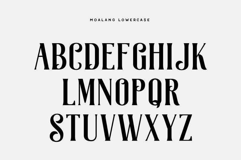 Download Moalang Swistblnk font (typeface)