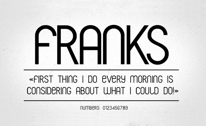 franks шрифт скачать бесплатно
