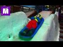 Макс в Дубаи День7 едем кататься на санках и больших шарах в Ski Dubai