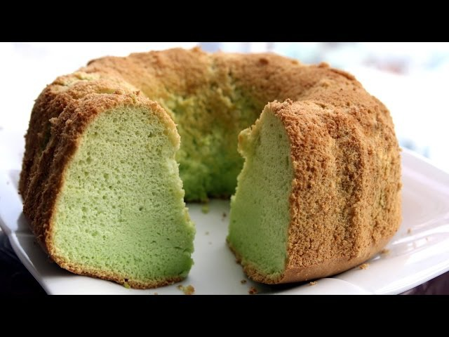 PANDAN CHIFFON CAKE - Bánh bông lan lá dứa