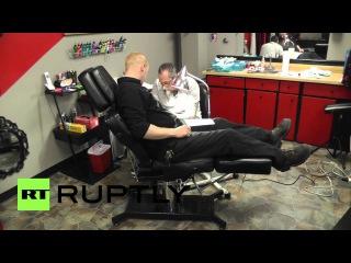 США: Трамп марка! Встречайте татуировщик Нью-Гемпшир с бесплатным татуировку Трамп.