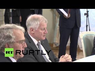 Россия: Зеехофер и мэр Москвы знак согласия, чтобы повысить двусторонние связи.