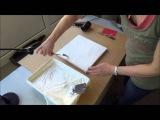 Acrylmalerei Techniken Strukturen mit fester Farbe Teil 1