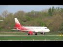 Первый рейс Airbus A319 авиакомпании «Россия» с именем «Ростов-на-Дону»
