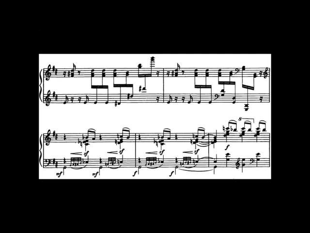 Aaron Copland - The Cat and The Mouse (audio sheet music)