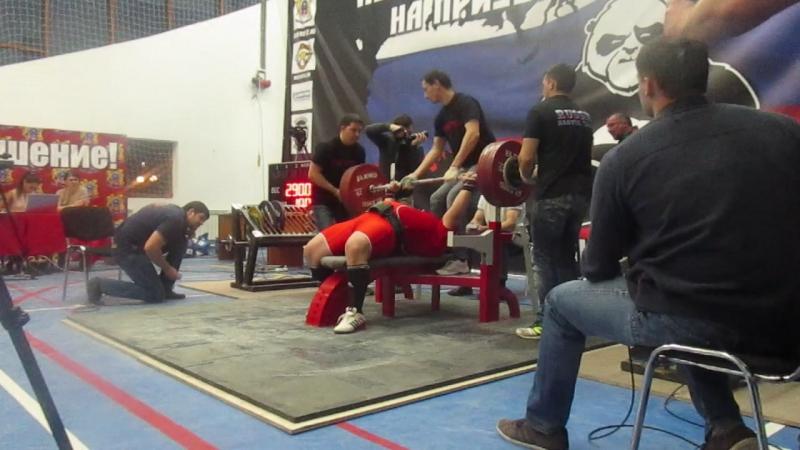 Колохин Павел. св. в. 126 кг. 290 кг. попытка