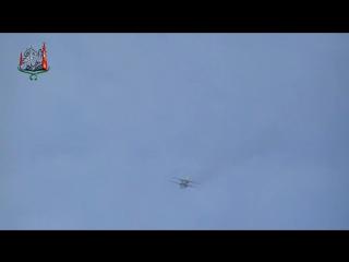 Сирия.Самолёт ВВС САР наносит бомбовый удар по позициям террористов в Хан Полынь..