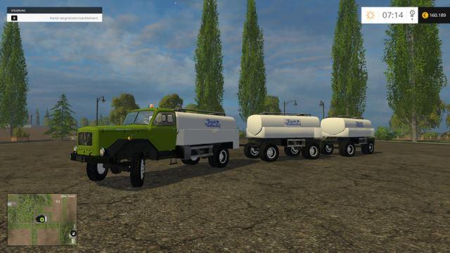 Magirus milk Truck & Trailer для Farming Simulator 2015 - Скриншот 3